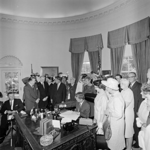 PRESIDENT JOHN F. KENNEDY SIGNS THE EQUAL PAY ACT